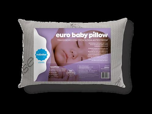 Travesseiro Euro Baby pillow Antiestresse com Fios de Carbono 30x40cm