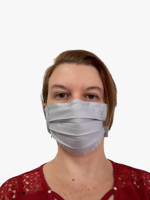 Máscara De Tecido com Íons de Prata e Clip Nasal Cinza com 05 Unidades