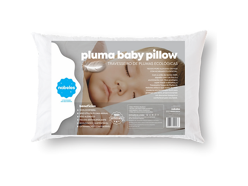 Travesseiro Pluma Baby Pillow Tam. 30x40cm