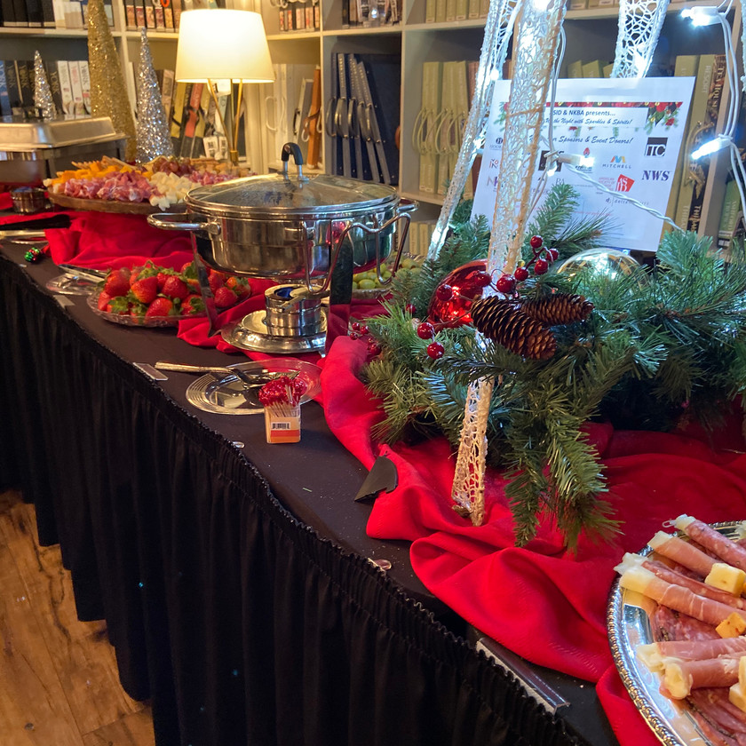 Fancy Holiday Food Table