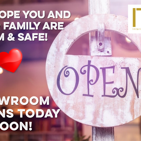 Our Showroom Opens Today at Noon!