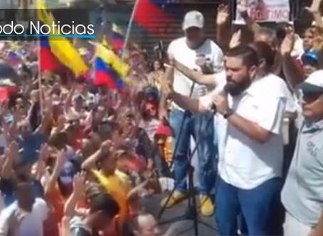 Impactante ! Diputado llena de esperanza a miles de personas en medio de manifestación en Venezuela