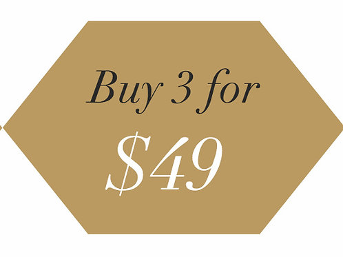 Buy 3 for $49