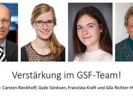 Neue Teammitglieder in der GSF