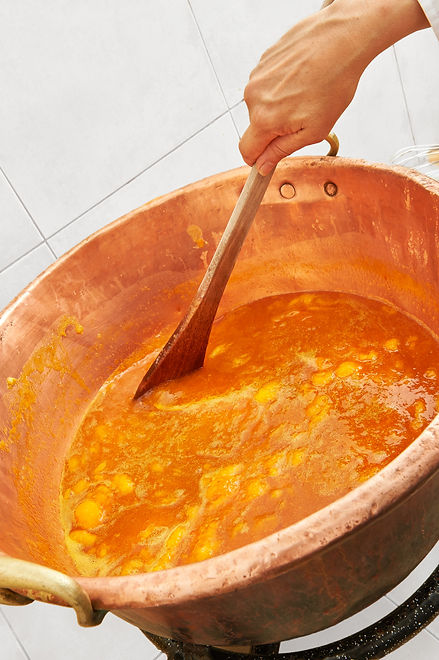 Les Délices du Bompart Confiture abricot artisanale Chaudron