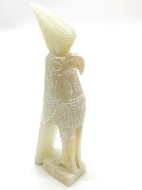 Horus Statue - White Soapstone