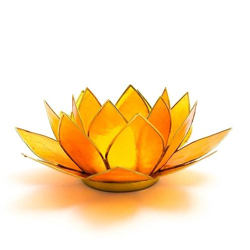 Lotus Candle Holder - Orange