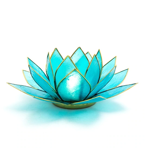 Lotus Candle Holder - Blue