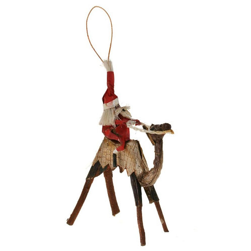 Santa on a Camel Christmas Tree decoration