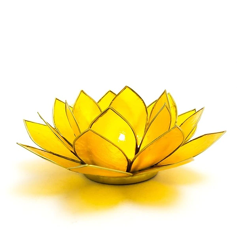 Lotus Candle Holder - Yellow