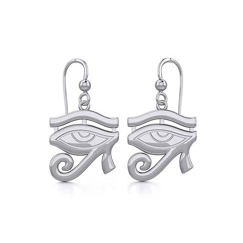 Eye of Horus Silver Earrings
