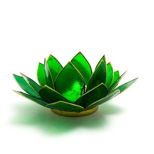 Lotus Candle Holder - Green