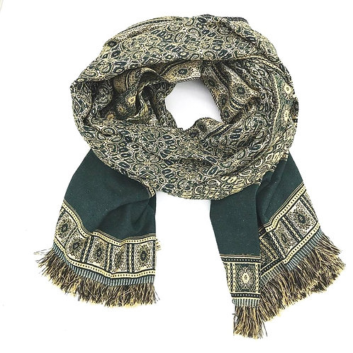 Patterned Scarf - Green