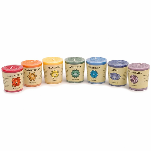 Set of 7 Candles - with Essential Oils