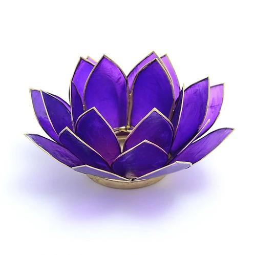 Lotus Candle Holder - Purple