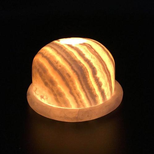 Alabaster - Tea Light Holder / Resin Burner
