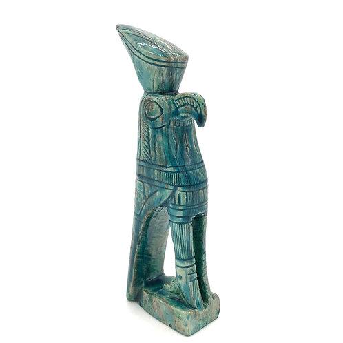Horus Statue - Green Glazed