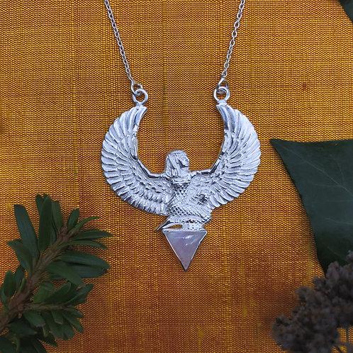 Unique Isis Pendant with Moonstone