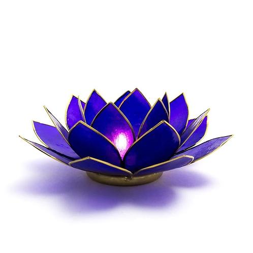 Lotus Candle Holder - Indigo