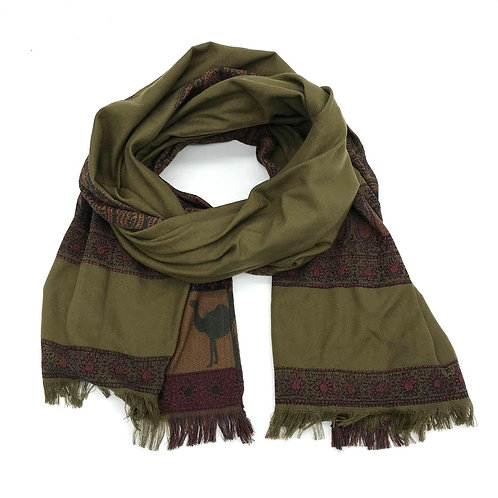 Paisley Scarf -Olive