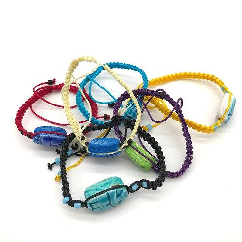 Woven Scarab bracelet