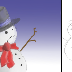 Lenny the lonely snowman