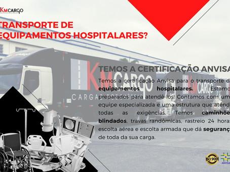 TRANSPORTE DE EQUIPAMENTOS HOSPITALARES
