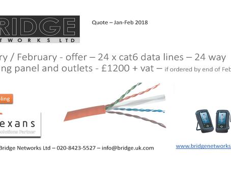 February cat6 U/UTP offer....