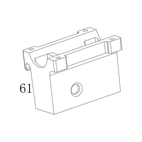 PTS PDR-C AEG Replacement Parts (61) Barrel Clamp Lower
