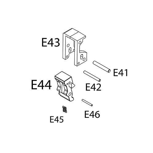 PTS Masada AEG Replacement Parts - MSD Switch Holder Set (E41+42+43+44+45+46)