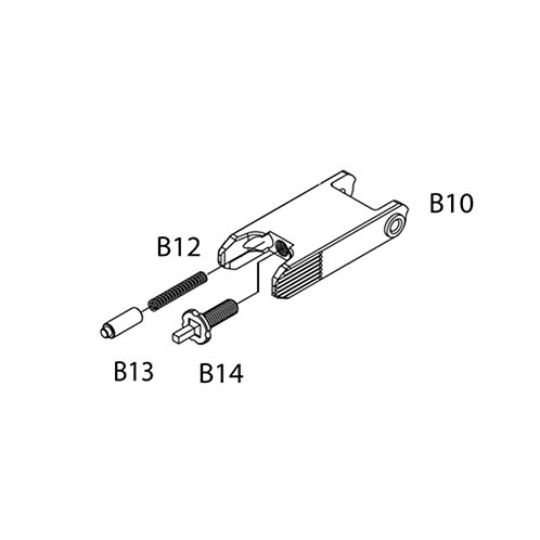 PTS Masada AEG Replacement Parts (B10 + B12 + B13 + B14) - Front Sight Set