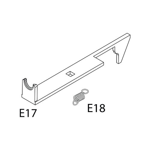 PTS Masada AEG Replacement Parts - MSD Tappet Plate & Spring (E17+18)