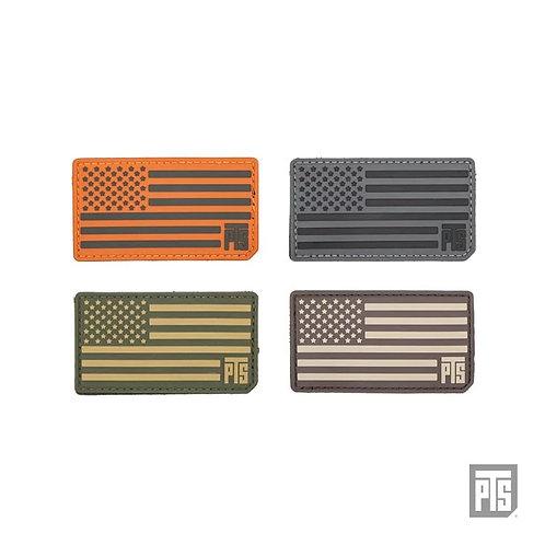 "PTS PVC US Flag Patch 3.5"""