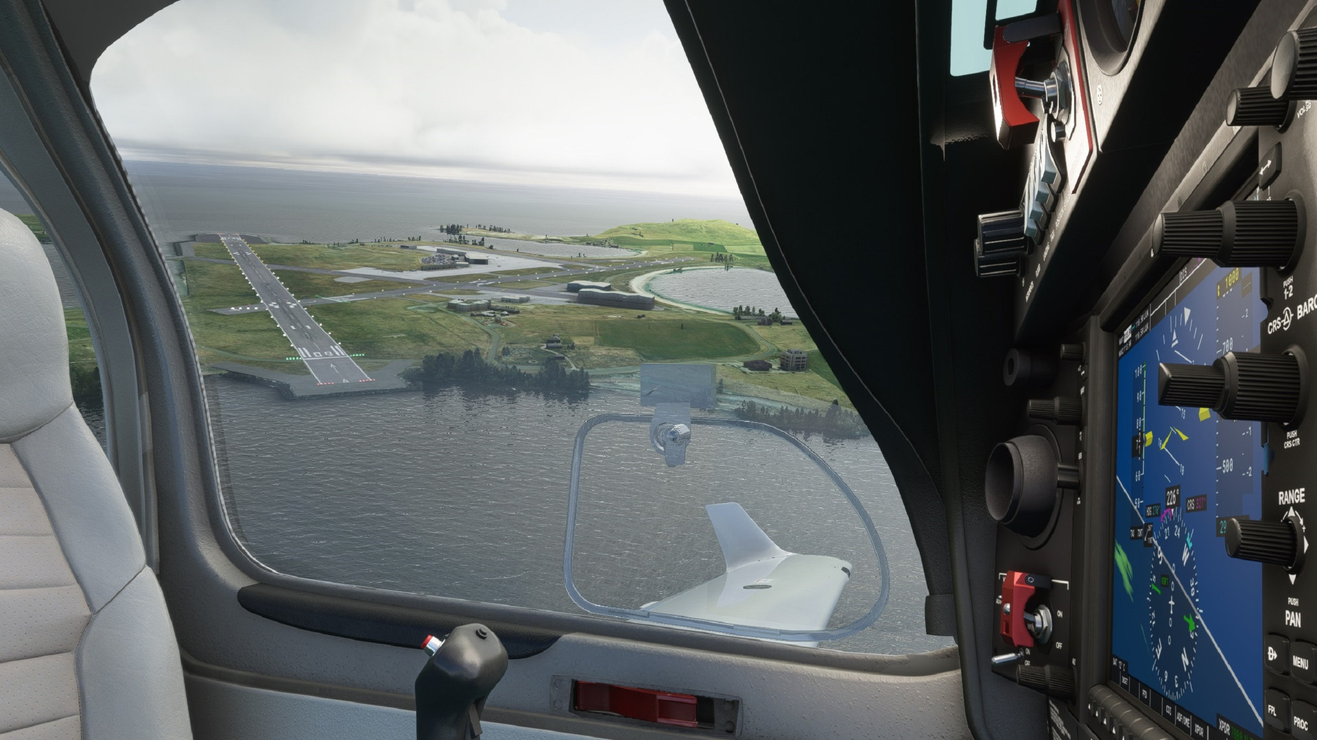 Crosswinds over the Shetlands