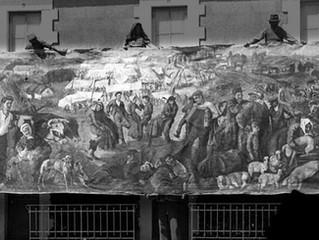 Où se trouve l'œuvre réalisée par Jean Launois et Henry Simon pour l'Exposition universelle de 1