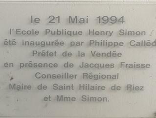 Plaque Groupe Scolaire Henry Simon