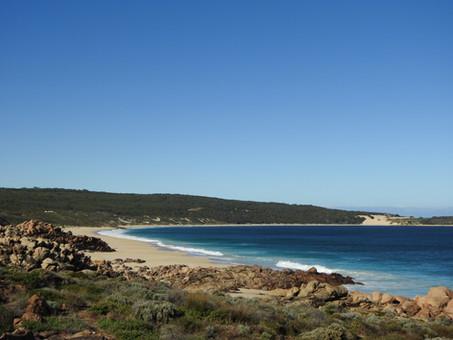 Frolicking good fun at Injidup beach and natural spa, Western Australia