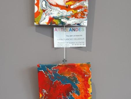 EXPO à PONTONX sur ADOUR - 4 toiles abstraites présentées  Février - Mars - Avril 2021