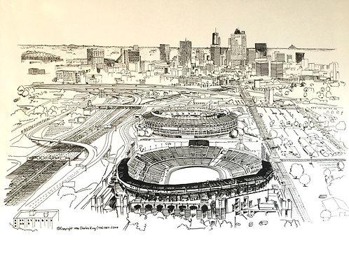 Atlanta City Skyline Print