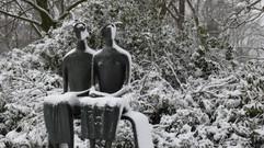 Skulpturenpark Museum Middelheim im Winter: Paragone zwischen Fotografie und Skulptur