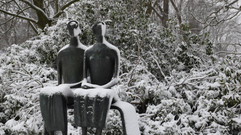 Skulpturenpark Museum Middelheim im Winter