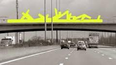Moderne Kunst Auf der E17 zwischen Gent und Lille (Fr)