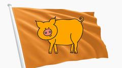 Holländische Schweine erobern Flandern