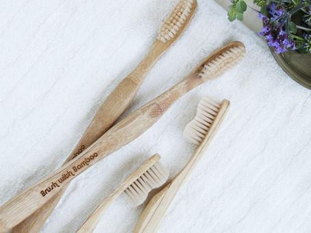 ¿Y qué tal eso de usar un cepillo de bambú?