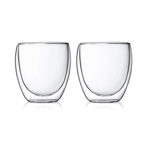 bodum PAVINA ボダム パヴィーナ ダブルウォール グラス (250ml×2個入り)