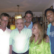 Yehiel Kadishai (Menachem Begin's lifelong best friend- 2nd from L) with (from L to R) Director Harry Hunkele, Exec. Producer Arick Wierson, film Publicist Vered Kollek and Exec. Producer Matthew Tollin.