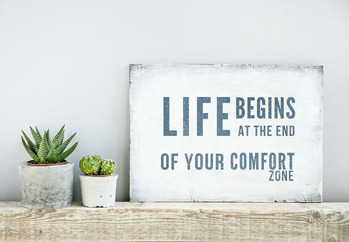 motivational poster quote LIFE BEGINS AT