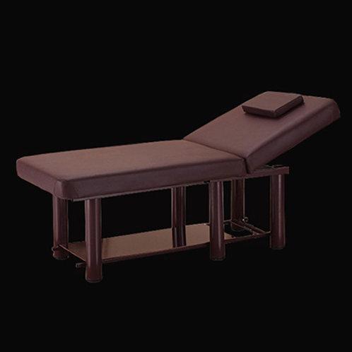 方頭六粗圓腳美容床 (有置物板)