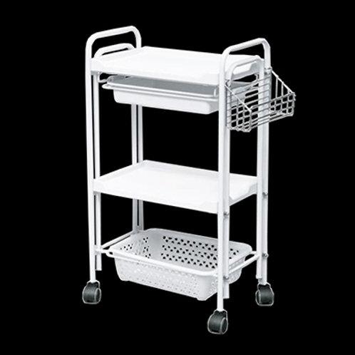 三層美容用品推車 (有櫃桶 + 置物架)