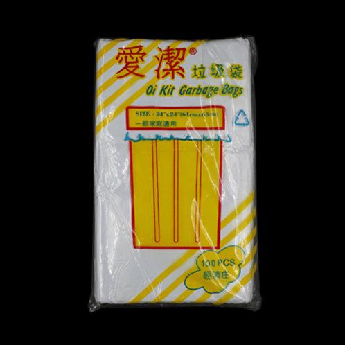 愛潔 ~ 白色 (PO) 垃圾袋